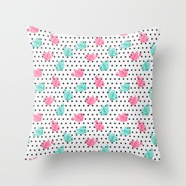 Freely Birds Flying - Fly Away Version 1 - Pearl Color Throw Pillow