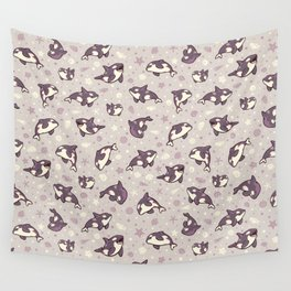 Jelly bean orcas Wall Tapestry