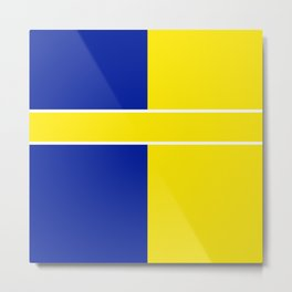 Team Colors 6..yellow,blue Metal Print