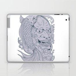 Hannya Mask and Koi Fish Drawing Laptop & iPad Skin