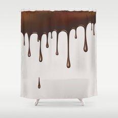 Chocolate Rain Shower Curtain