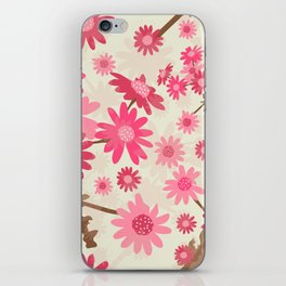 Pink Camomiles Pattern iPhone Skin