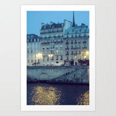 Paris by Night: Ile de la Cite Art Print