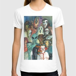 monsters watercolor squad T-shirt