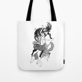 Femme Loup Tattoo Tote Bag