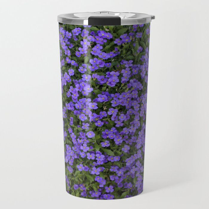 Tiny Purple Flowers Travel Mug