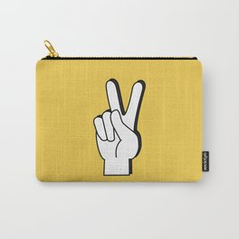 Peace Sign yellow Carry-All Pouch