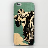 motorcycle iPhone & iPod Skins featuring Motorcycle Race by Fernando Vieira