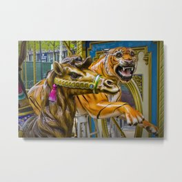 Carousel Camel and Tiger on a Merry-go-round Metal Print