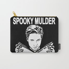 Spooky Mulder (black) Carry-All Pouch