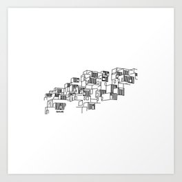 Montréal - Habitat67 - Black Art Print