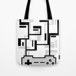 8-BIT JOYSTICK (GREY) Tote Bag