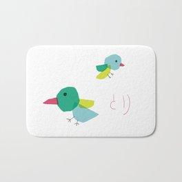 Bird and japanese 'tori' Bath Mat