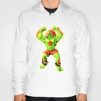 street fighter Hoodies featuring Street Fighter II - Blanka by Carlo Spaziani