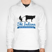 indiana Hoodies featuring Ski Indiana  by Westfield ski and snowboard club
