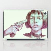 leon iPad Cases featuring leon - mathilda  by Doruktan Turan