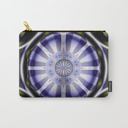 Pinwheel Hubcap in Purple Carry-All Pouch