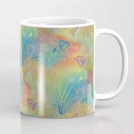 Rainbow Sparkles Leaves Flowers Coffee Mug