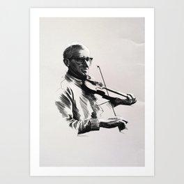 An Irish Fiddler Art Print