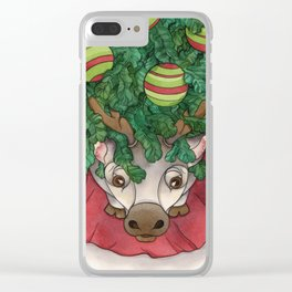 Baby Reindeer Clear iPhone Case