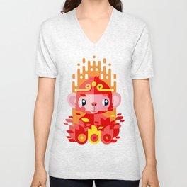 Fire Monkey Year Unisex V-Neck