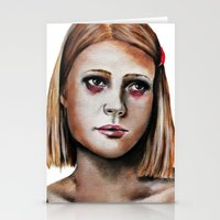 tenenbaum Stationery Cards featuring Margot Tenenbaum  by Bella Harris