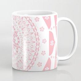 Dusky Pink Frosted Flower Mandala Coffee Mug