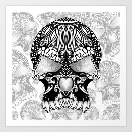 Sugar Skull.  Art Print