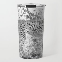 Cheetah in Black and White Travel Mug