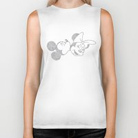 minnie Biker Tanks featuring Mickey & Minnie by S. L. Fina