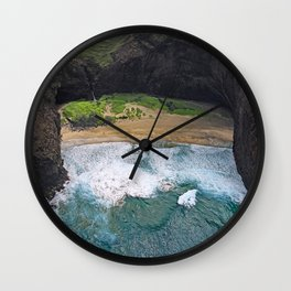 Hawaii's Most Romantic Beach Wall Clock