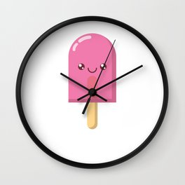 Pink Ice Pops Wall Clock