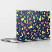 fruits Laptop & iPad Skins featuring Fruits by Ananá