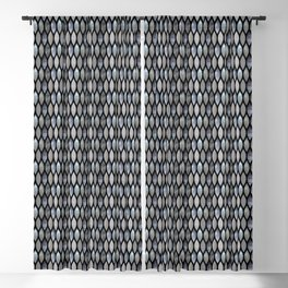 Silver Scales Blackout Curtain