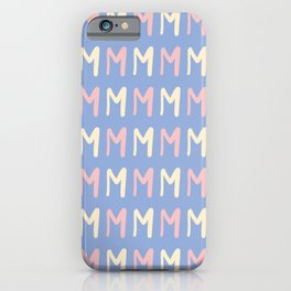 Alphabet Letter M Pattern iPhone Case