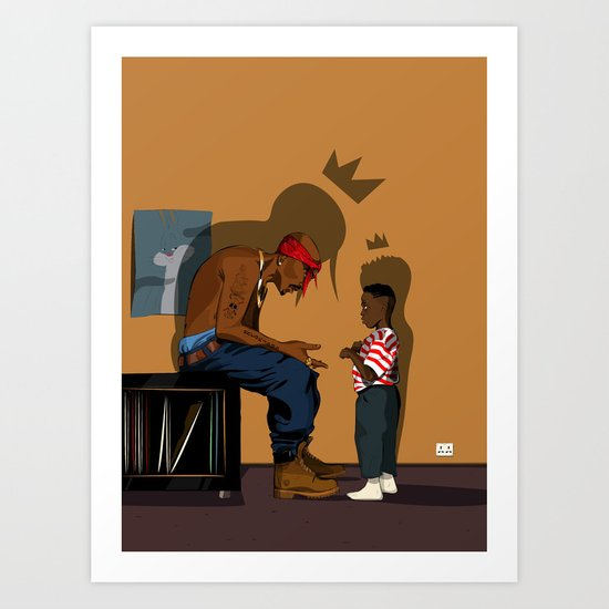 Just be the King Art Print