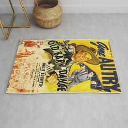 Vintage poster - The Old Barn Dance Rug