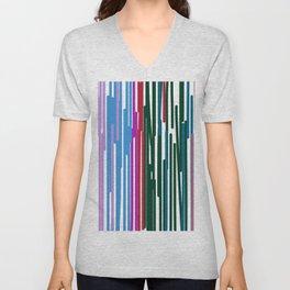 Design wild lines Blue Pink Unisex V-Neck