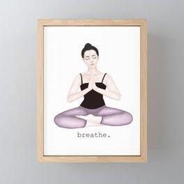 breathe. Framed Mini Art Print