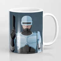 robocop Mugs featuring Dead or alive, you're coming with me (RoboCop) by DWatson