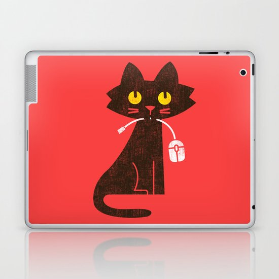 Fitz - Hungry hungry cat (and unfortunate mouse) Laptop & iPad Skin