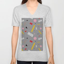 Memphis Milano Deconstructed Tahiti Table Lamp Confetti Unisex V-Neck