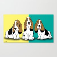 dogs Canvas Prints featuring dogs  by mark ashkenazi