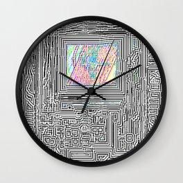 Peaking Through Wall Clock
