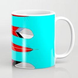 Horizontal Desert Feathers, Southwestern Design Coffee Mug
