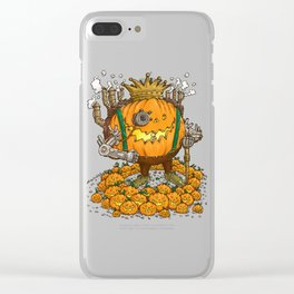 The Steampunk Pumpking Clear iPhone Case