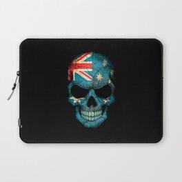 Dark Skull with Flag of Australia Laptop Sleeve
