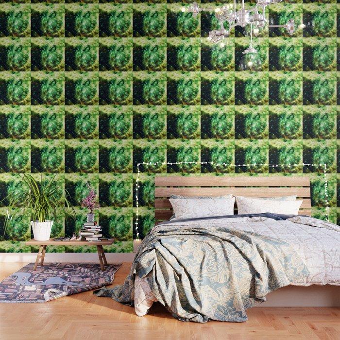 Lime Green Grass Galaxy Nebula Wallpaper