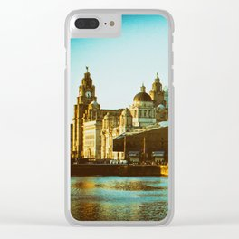 Albert Dock and Three Graces Clear iPhone Case