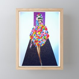 Romance On The Runway - Full Length Framed Mini Art Print